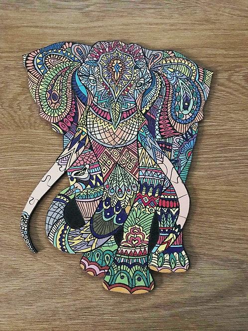 """Пазлы деревянные """"Слон"""""""