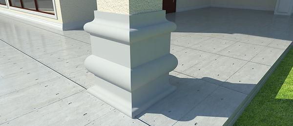 Moldura de EPS, Moldura de Isopor, Cimalha, Vista