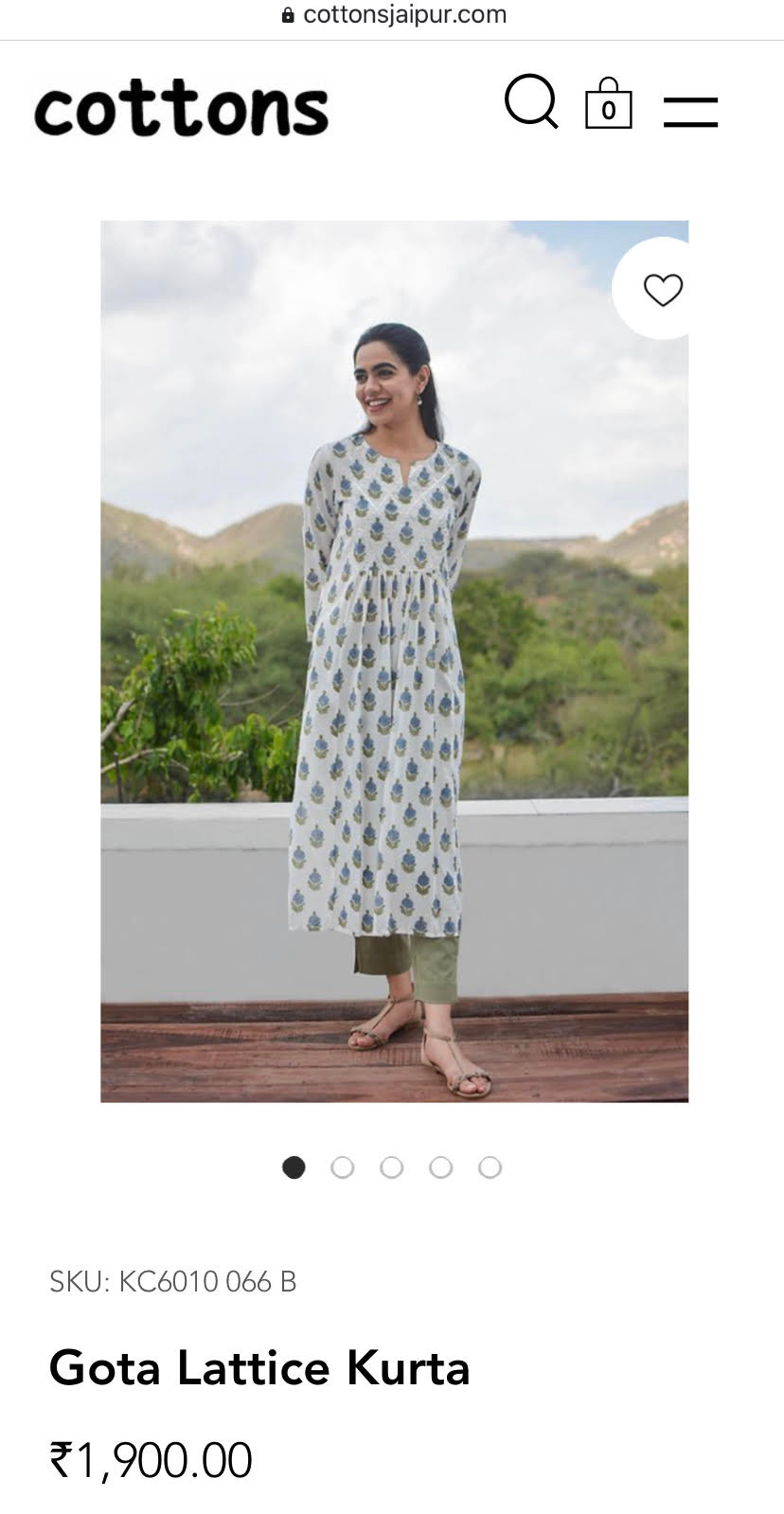 cottons jaipur mobile site kurta