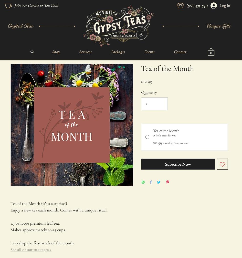 gypsy teas subscription