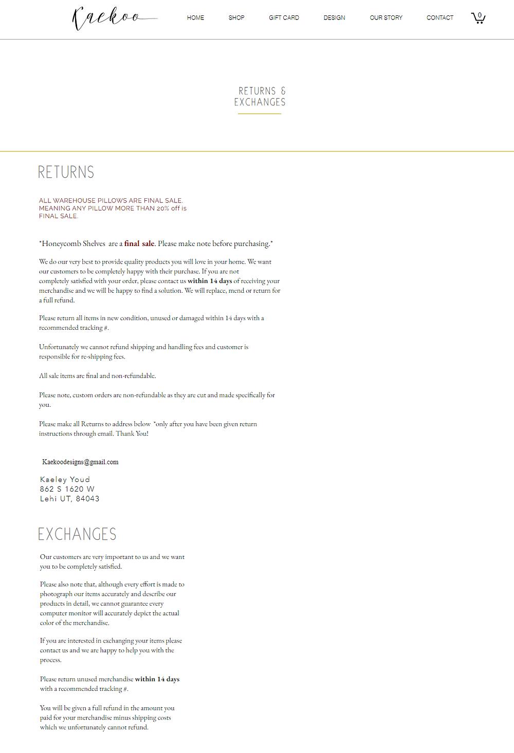 Kaekoo return and refund policy