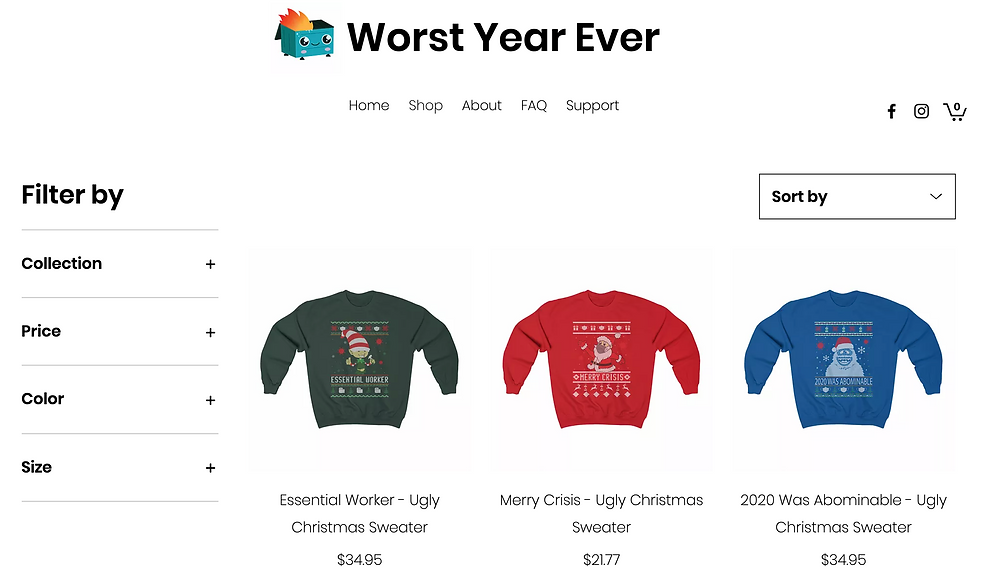 Worst year ever holiday sweaters