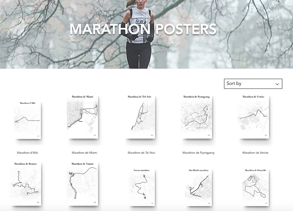 races routes personalized posters