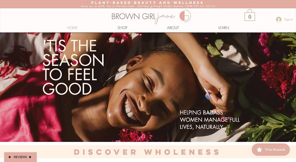 Brown Girl Jane homepage