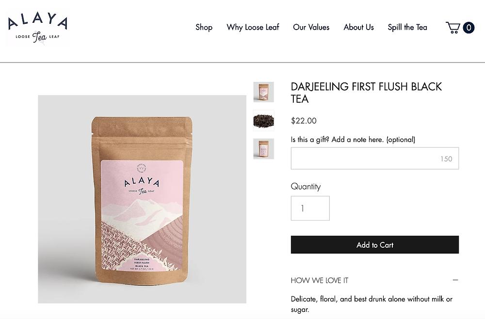 alaya tea personalization