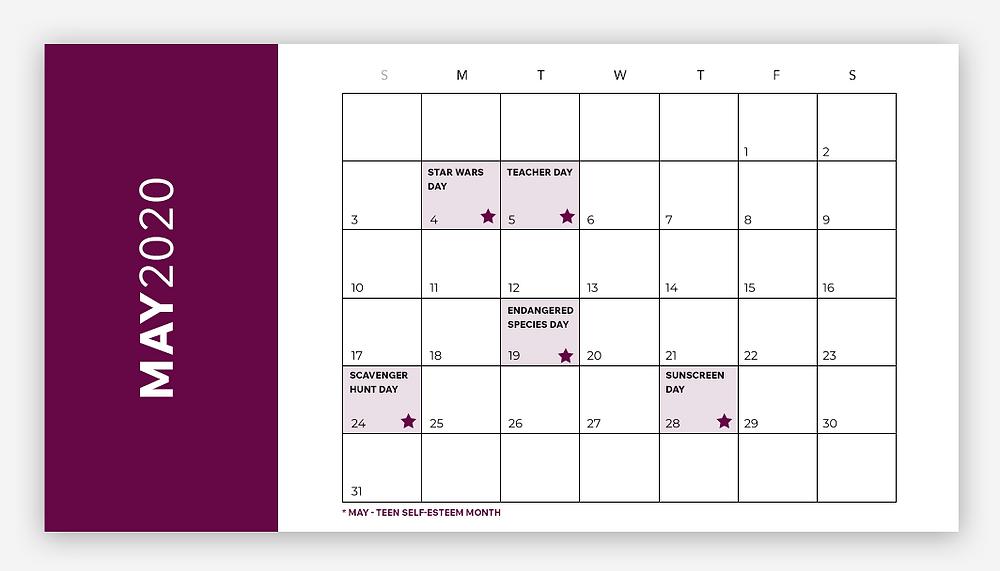 social media calendar may