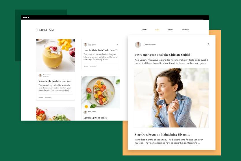 content marketing wix