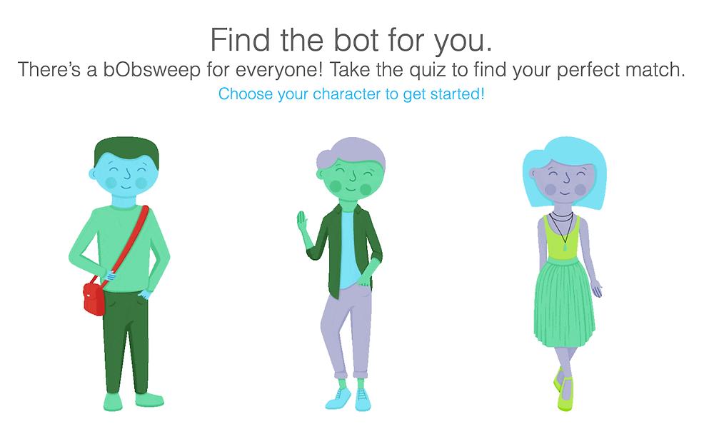 bobsweep quiz personalization