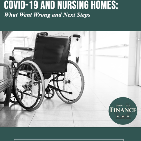 U.S. Senate Reports that Negligence of Nursing Homes Caused Thousands of Covid-19 Deaths