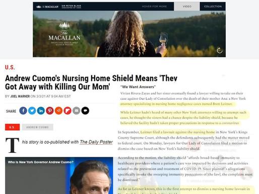 Newsweek Spotlights Leitner Varughese Warywoda Efforts for Nursing Home Neglect Justice