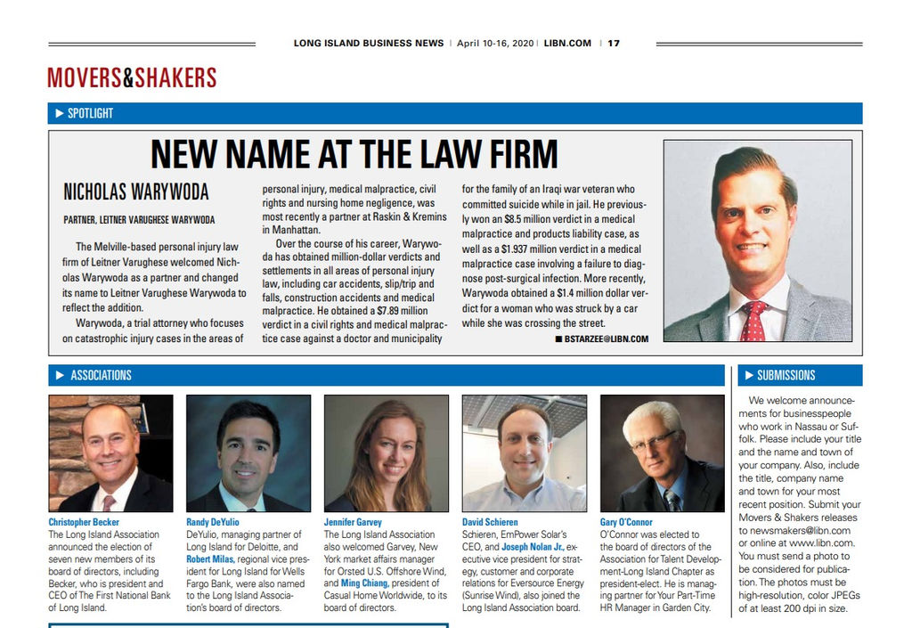 New York Personal Injury Attorneys Justin Varughese and