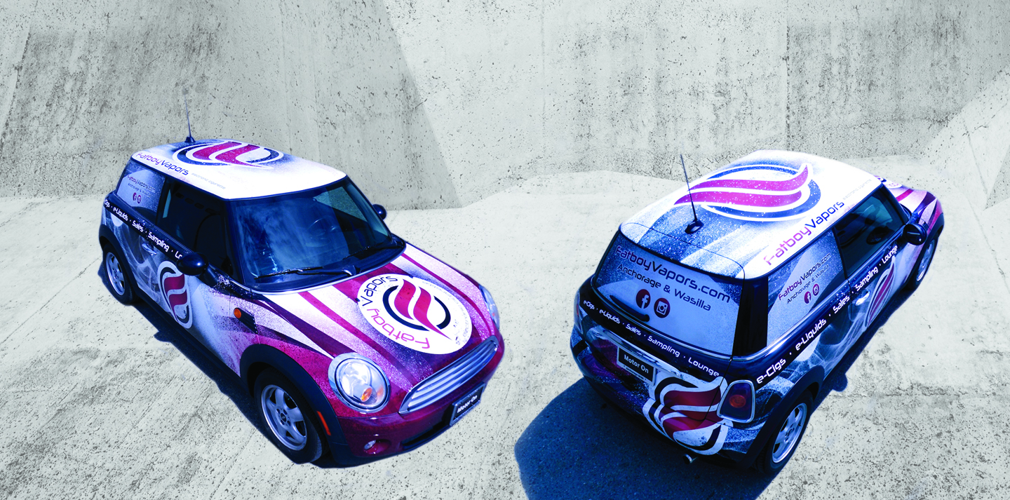 Fatboy Vapors Mini Car Wrap