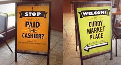 University Deli Store Signage