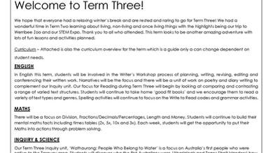 Year Three - Term Three Newsletter