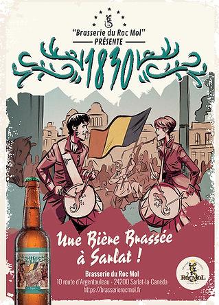 Affiche Brasserie du Roc Mol A2 1830 RVB