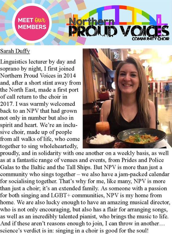 Meet Our Members: Sarah Duffy