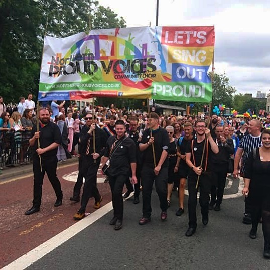 Marching at Newcastle Pride this summer