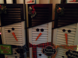 Snowman Shutters by Donna Pike