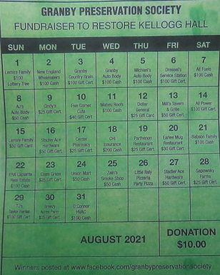 2021 August 31 day Money Calendar