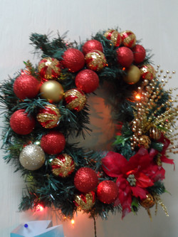Red & Gold Wreath