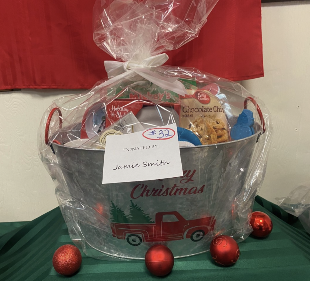 #32 Santa Cookie Prep Basket