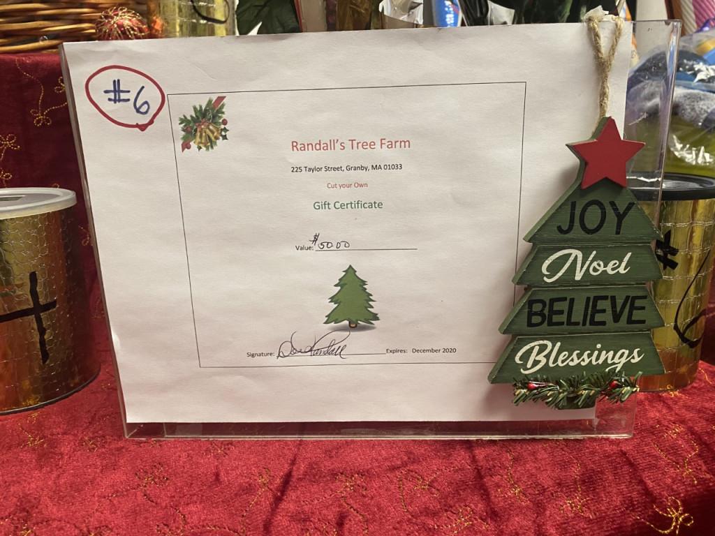 #6 Randall's Tree Farm $50 Certificate