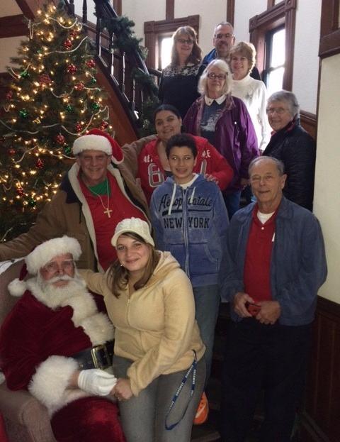 Choir with Santa