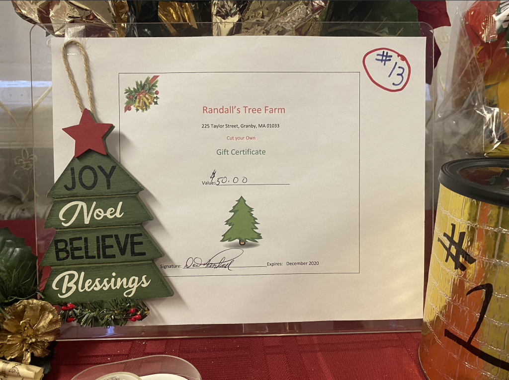 #13 Randalls Tree Farm $50 Certificate