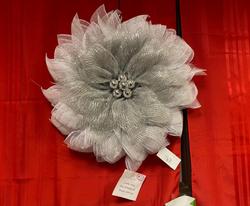 #35 Silver Netting Wreath
