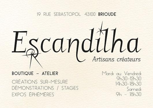 escandila boutique d'Artisans Créateurs brioude haute-loire expositions stages conferences
