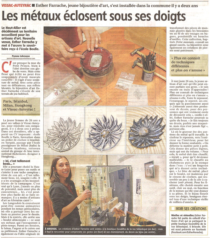 esther farrache bijouterie atelier jewelry workshop