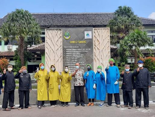 Kegiatan Vaksinasi Covid-19 Tahap pertama di SMK Negeri 2 Subang