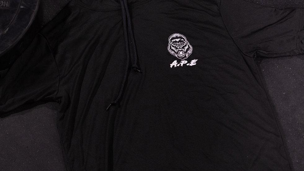 Men's hooded shirt sleeve performance tee