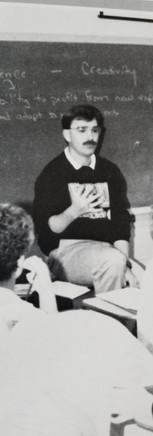 Jeff teaches a Psychology class at Bunker Hill High School (1994)