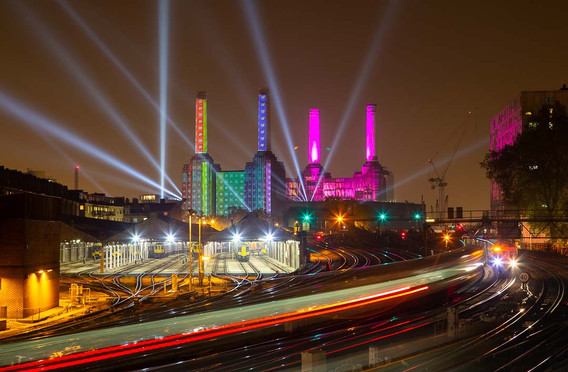 Battersea Power Station in Technicolour