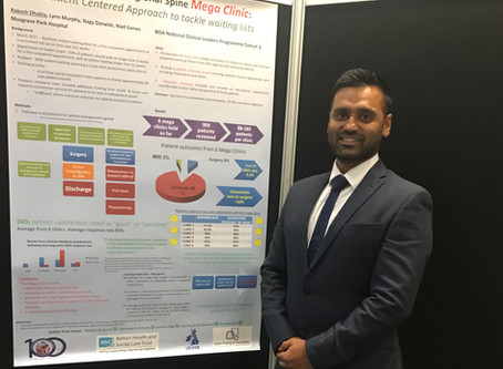 Clinical Leaders Programme – Centenary BOA poster prize winner – Rakesh Dhokia