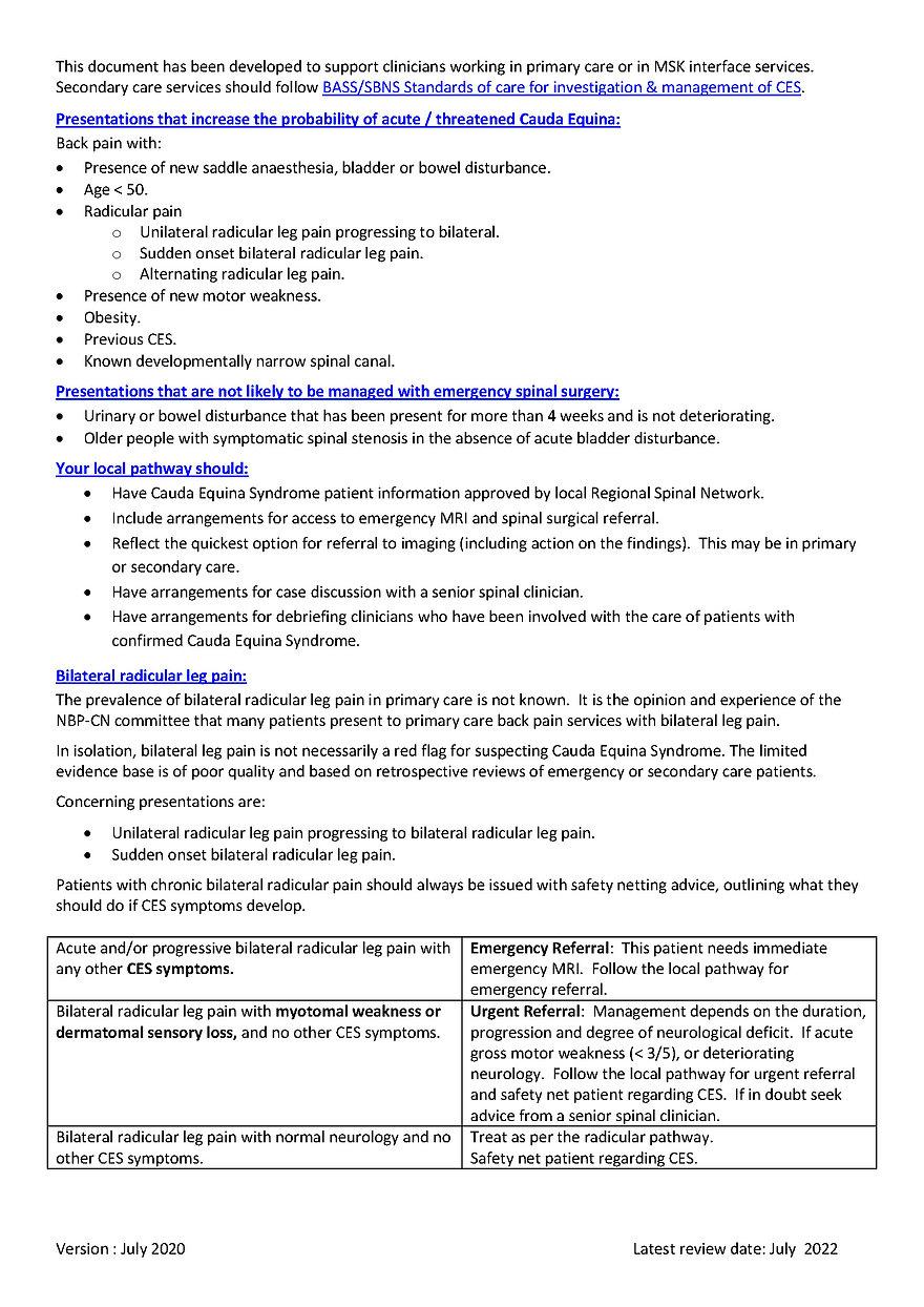 2020 NBP-CN CES Framework for assessment
