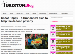 Snact Happy: a Brixtonite's plan to help tackle food poverty