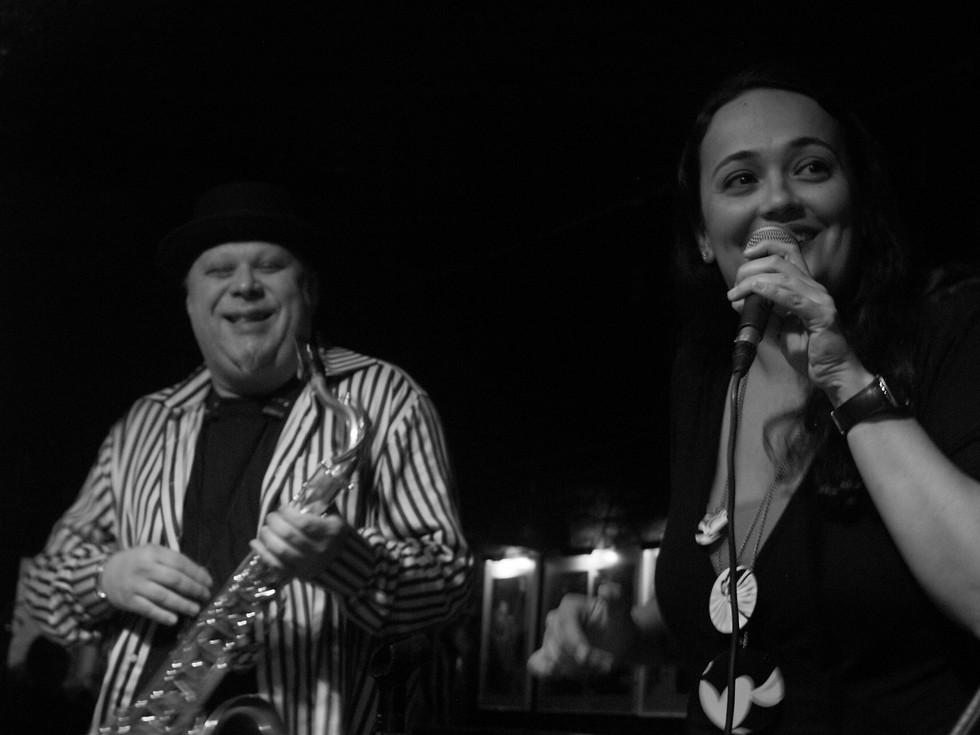 on stage with tony lakatos