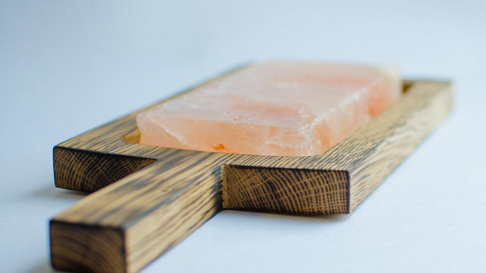 Разделочная доска из дуба светлая + солевая плитка [Подробнее>]