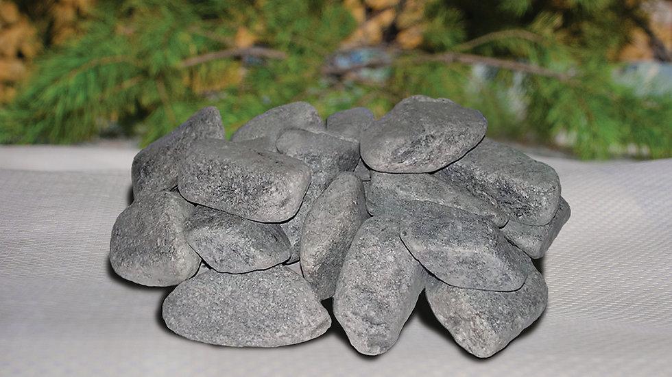 Габбро-диабаз галтованный 20 кг для бани и сауны [Подробнее >]
