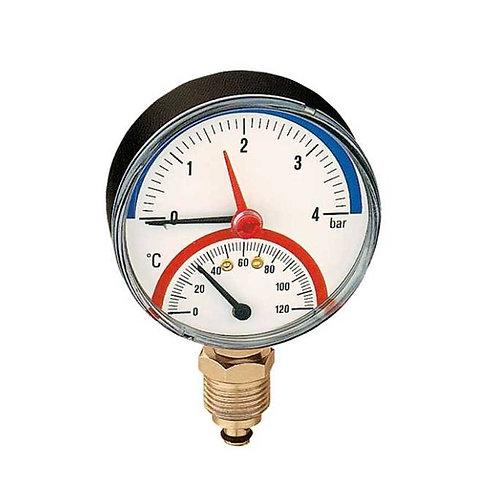 """Termomamómetro. Ligação radial 1/2""""."""