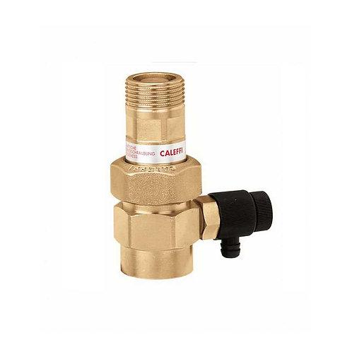 Válvula de interceção automática para vasos expansão, com torneira de descarga