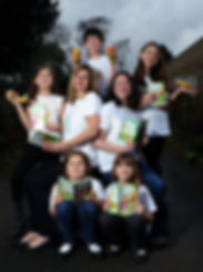 The Super Food Fight Team - authors and their families of Emma Bright and The Super Food Fight, adventure story for children aged 5-9 years to inspire healthy eating habits.