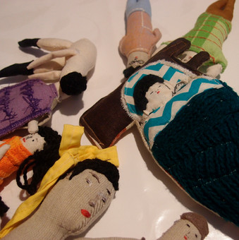 Los Musgoamigos, muñecos de tela de Francisca Robles