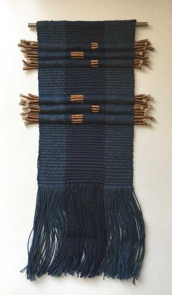 Serie de textiles en pequeño formato que está trabajando Andrea Fischer actualmente