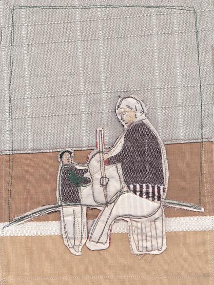 Abuelo y nieto cantan