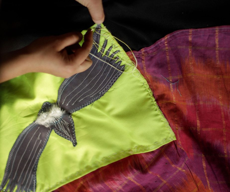Detalle de Textil Colaborativo sobre la Unctad III