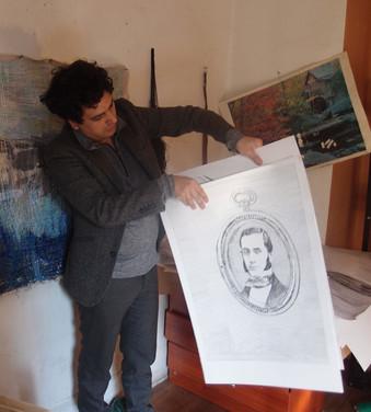Dibujo para reedición de Moby Dick de Melville