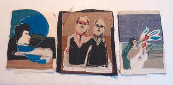 Ilustraciones textiles para Víctor libro homenaje a Víctor Jara por Elena Rocco. Quilombo Ediciones